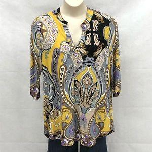 Paisley Grace multi colored print tunic